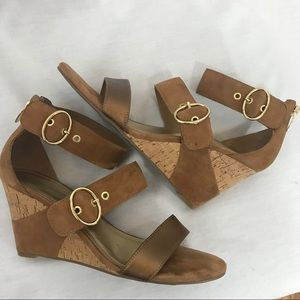 *MARC FISHER* Camber Suede Wedge Sandals